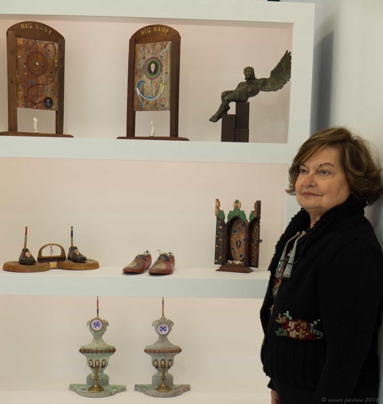 Teresa Gancedo en la sala Ármaga. © Fotografía de Vicente García.