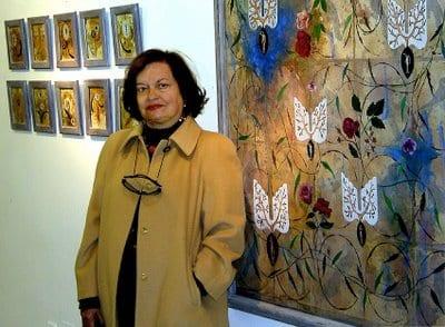 Teresa Gancedo en la sala Ármaga en 2009. © Fotografía de M. Cuevas.