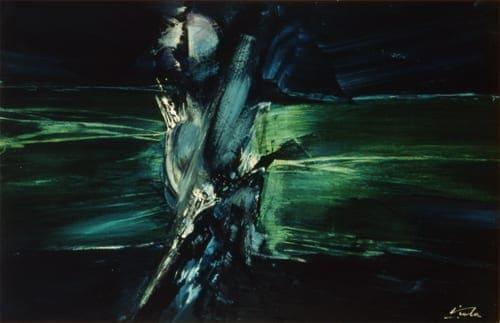 Manuel Viola. 'En las aguas del sueño'. Lienzo, 1969.