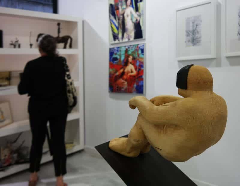 Una pieza del artista Amancio González. - © Fotografía: CUEVAS.