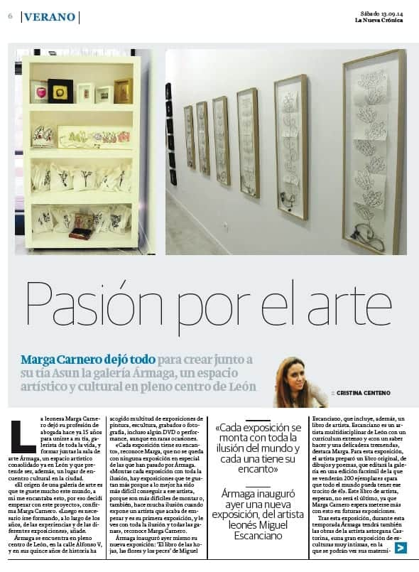 Primera página de la entrevista con Marga Carnero.