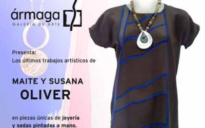 Maite y Susana OLIVER presentan sus joyas y sedas pintadas a mano