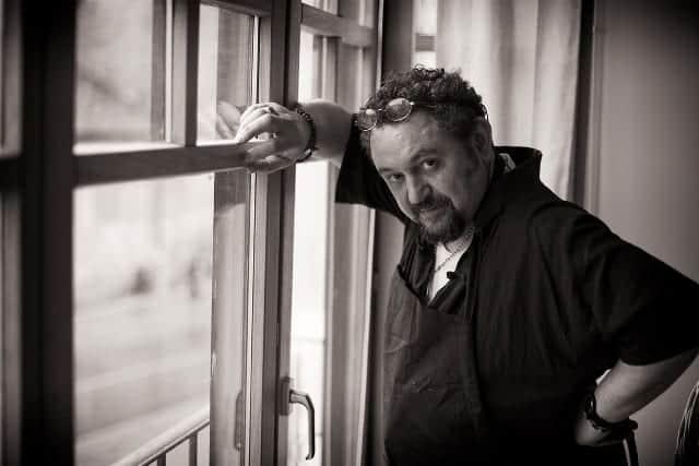 El pintor José de León. © Fotografía: José Ramón Vega.