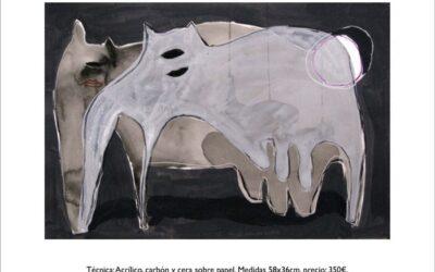 Obra sobre papel de REME REMEDIOS, de la serie «ANIMAL»