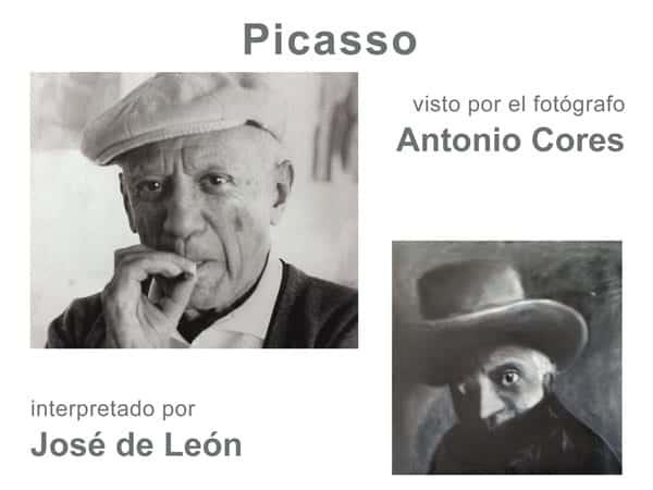 PICASSO visto por el fotógrafo Antonio Cores e interpretado por José de León