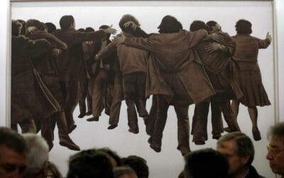 'El abrazo' de Juan Genovés llega al Congreso de los Diputados