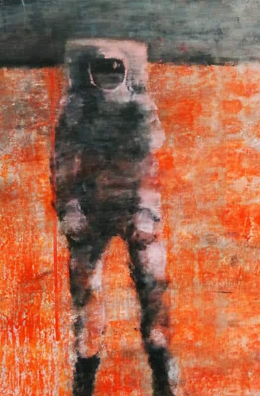 Una de las piezas de Fernando V. Mourelo en Ármaga. Fotografía: CUEVAS.
