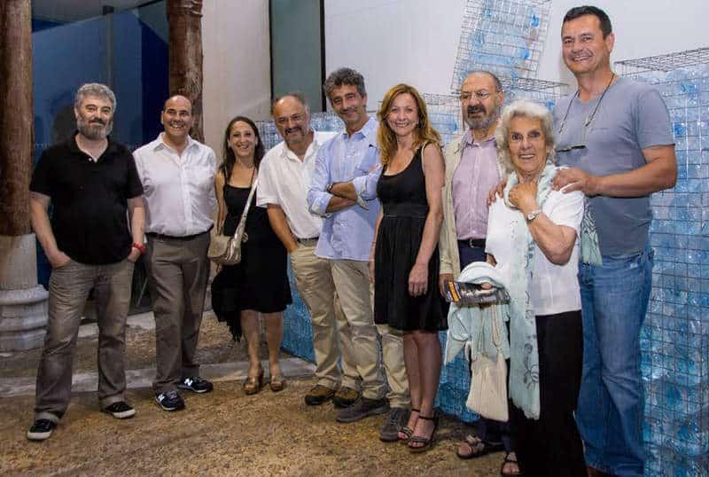 El Palacio Don Gutierre acoge la exposición colectiva liderada por diez artistas locales. Foto: CUEVAS .