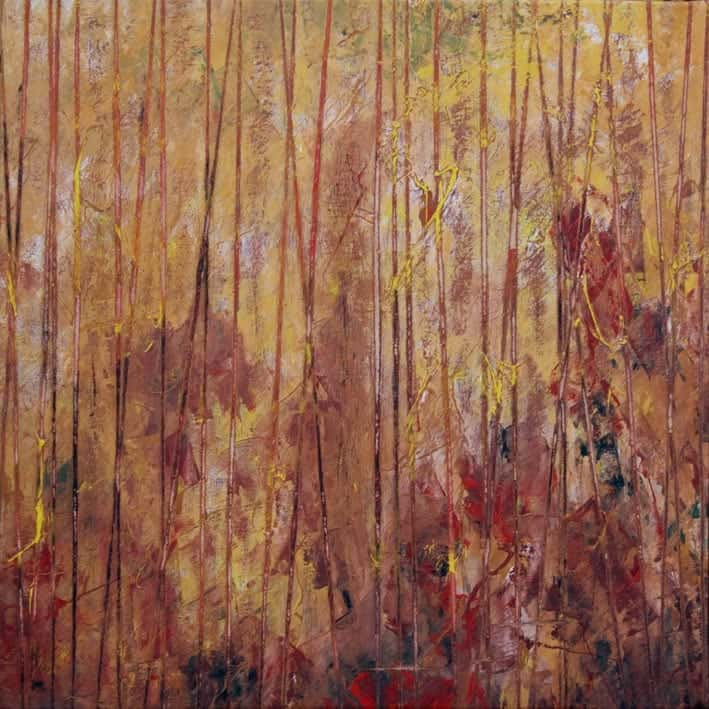 """Uno de los """"Bosques"""" que Juan Rafael muestra en la galería Ármaga."""