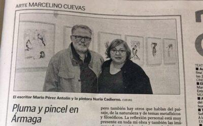"""""""Pluma y pincel en Ármaga"""". Reseña de la exposición de Nuria Cadierno"""