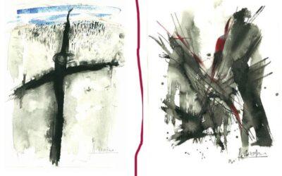 Ilustraciones de NURIA CADIERNO para un libro de poemas de Mario Pérez Antolín