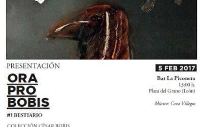 """ORA PRO BOBIS"". Una carpeta-homenaje a César Bobis, a la venta en Ármaga"