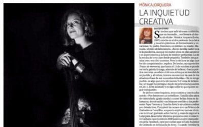Mónica Jorquera en la última de El Día de León: «La inquietud creativa»