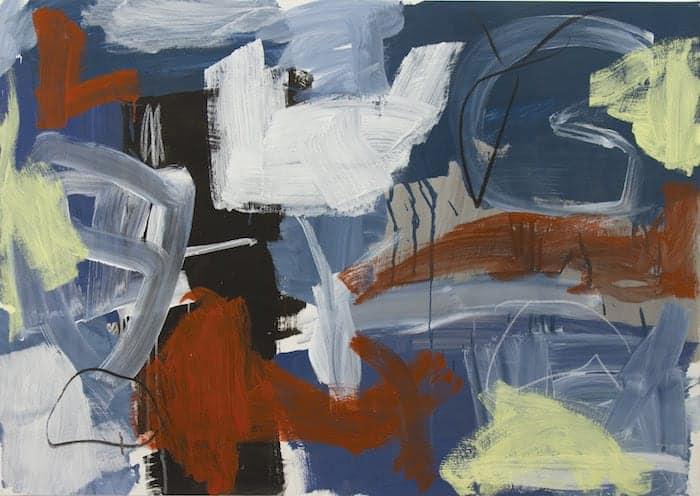 El expresionismo abstracto de Vega de Seoane llena de color y libertad las paredes de Ármaga
